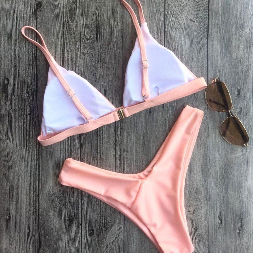 f776ad549fd0 Generic Tectores Women Sexy Push-Up Padded Bra Beach Halter Bikini Set  Swimsuit Swimwear Gift