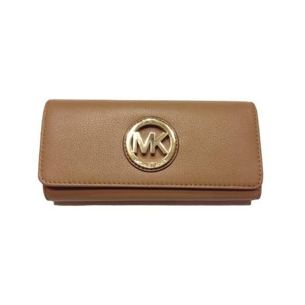 1f69267455c1 US Michael Kors Fulton Flap Continental Clutch Wallet Dark Khaki ...