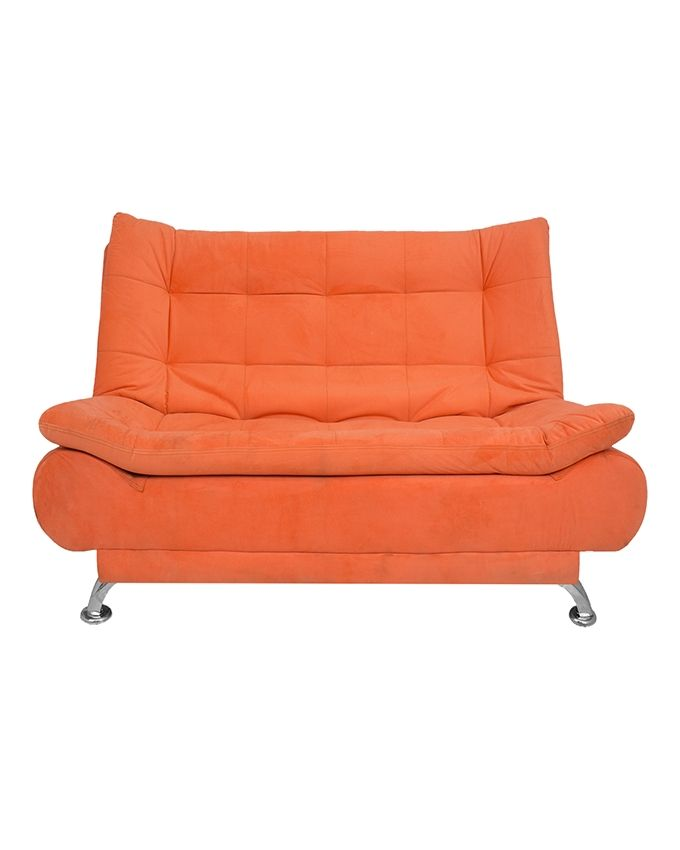 art home 3 seaters velvet sofa bed 190x120 cm orange