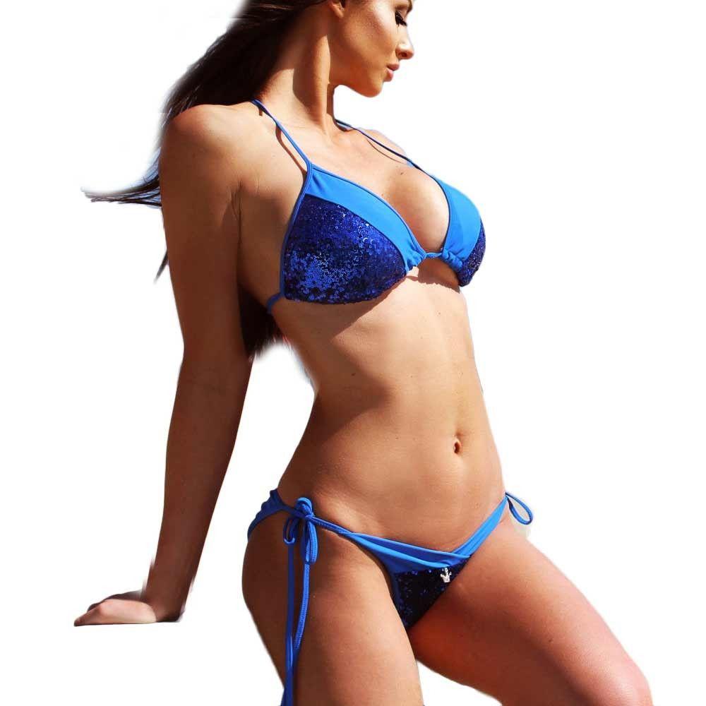 dc07ab5bf975b Generic Tectores Women s Bandage Bikini Set Push-up Padded Bra Swimsuit  Bathing Suit Swimwear Gift
