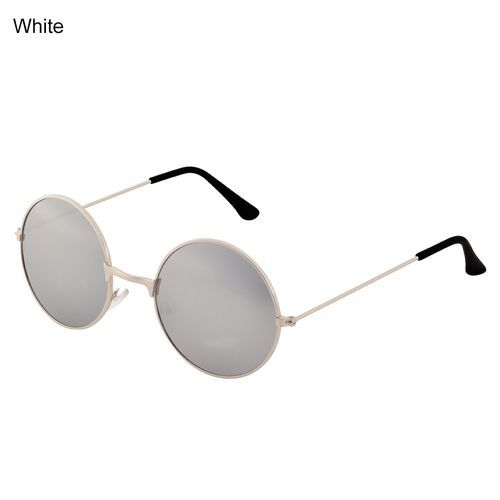 002129ac182b7 Sanwood Men s Women s Punk Round Lens Eyewear Sunglasses Outdoor Sports  Gift-White