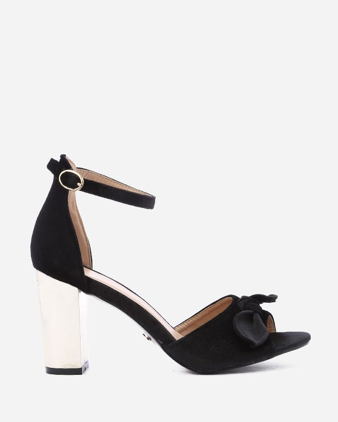 4ace19c926e4 Buy Dejavu Velvet Bow Sandal - Black in Egypt