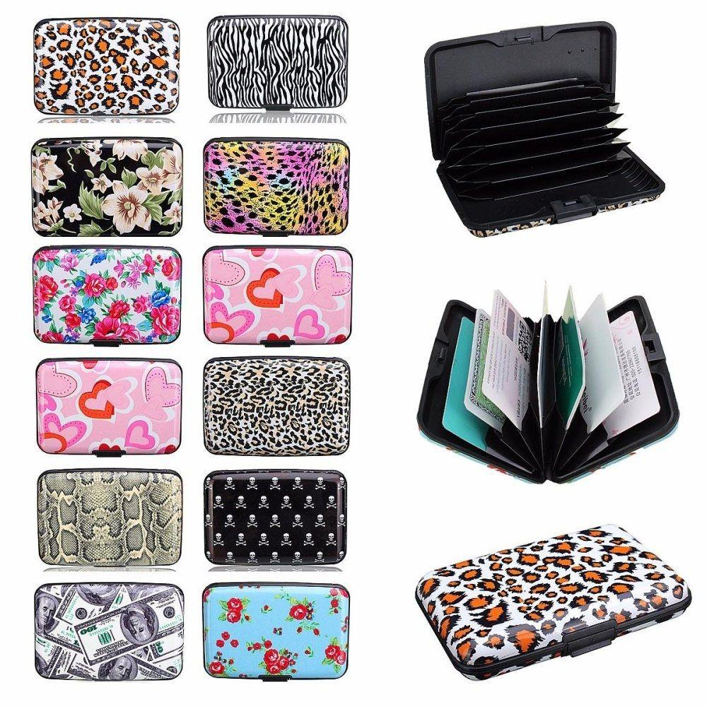 2b4ff1b2c Fashion Aluminum Metal Pocket Business ID Credit Card Wallet Holder  Waterproof Case Box Heart