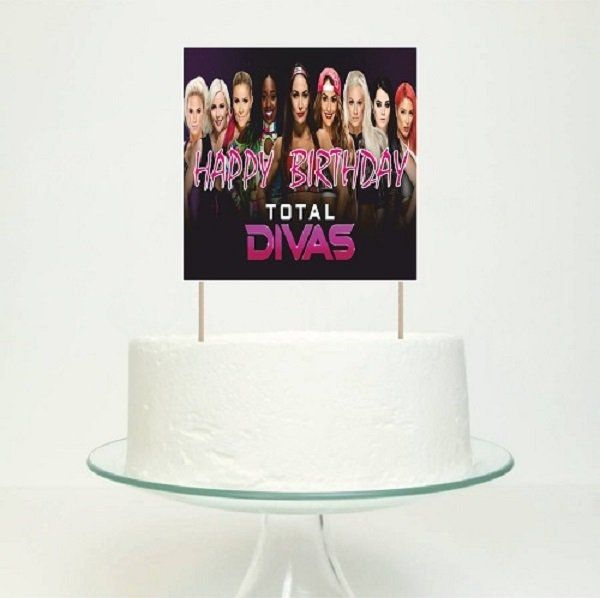 Generic WWE Divas Birthday Cake Decoration Topper Cente