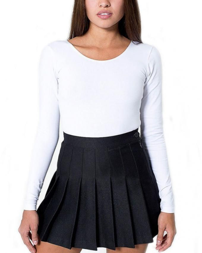 213125114 Sunshine Sexy High Waisted Solid Pleated Mini Tennis Skater Skirt ...