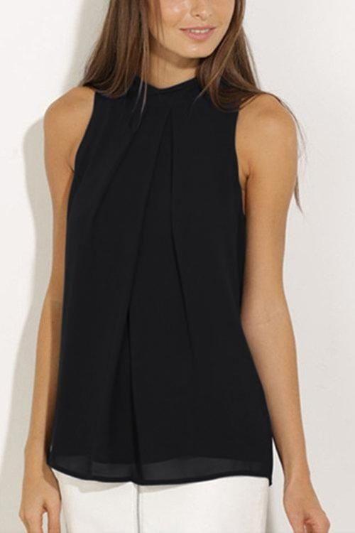 12e8401253a4f Buy Fashion YOINS Women New High Fashion Style Clothing Casual Crew Neck  Sleeveless Black Cami Top