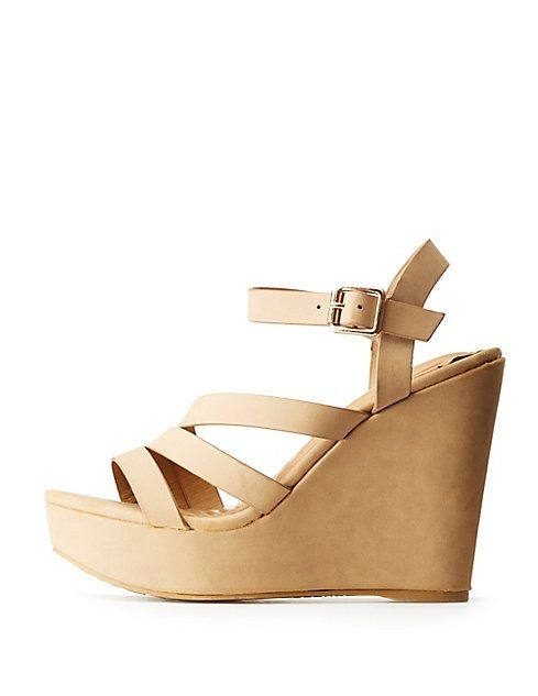 8842544b0965 Buy Charlotte Russe Bamboo Strappy Wedges in Egypt