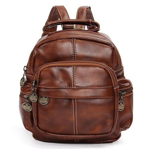 Universal Fashion Women Vintage Mini Leather Travel Backpack Tote ... 43c79188f2ff3