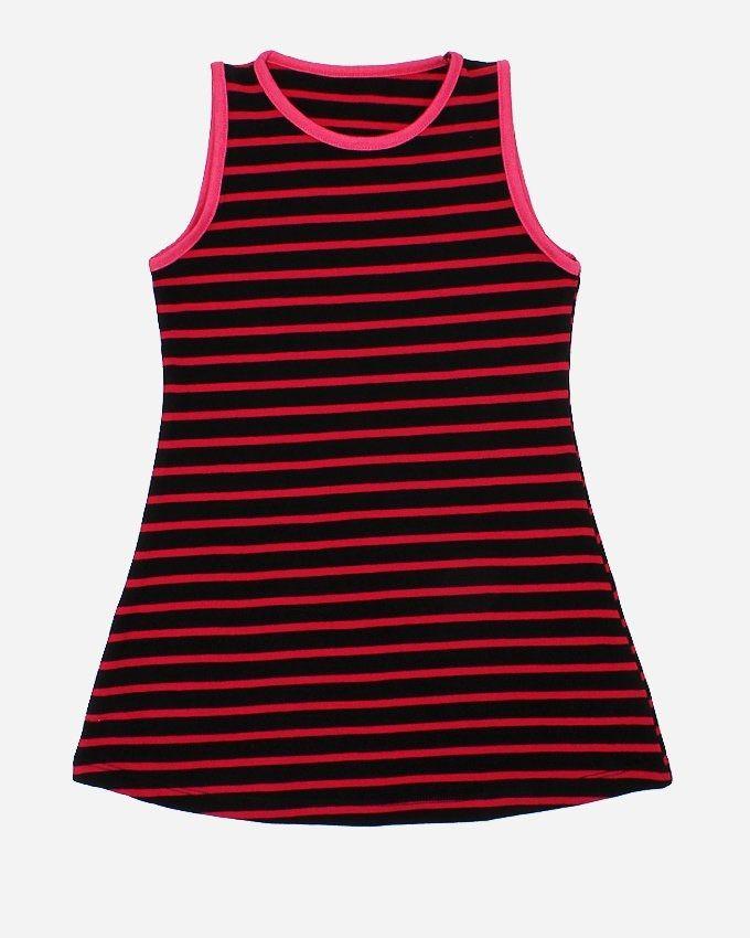 Andora Striped Dress - Fuchsia