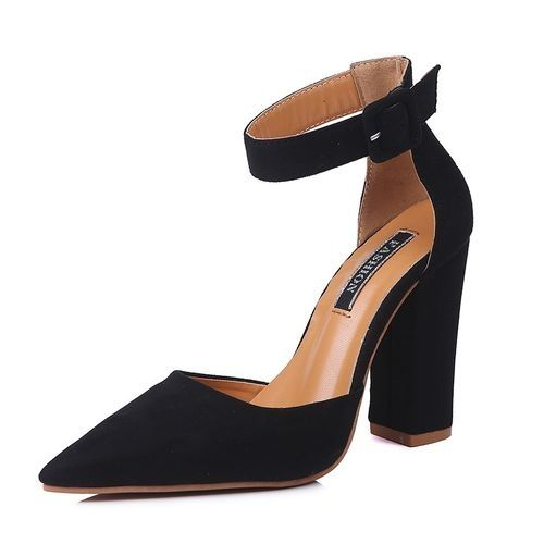 ae8aed0f7 سعر Znu Womens Block Heel Ankle Strap Buckled Potined Pumps High Heel  Sandal فى مصر | جوميا | أحذية | كان بكام