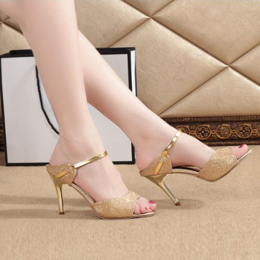 e6bf3f8acf6 Buy Generic Tcetoctre Fashion Women Ladies Sandals Ankle High Heels Block  Party Open Toe Shoes-