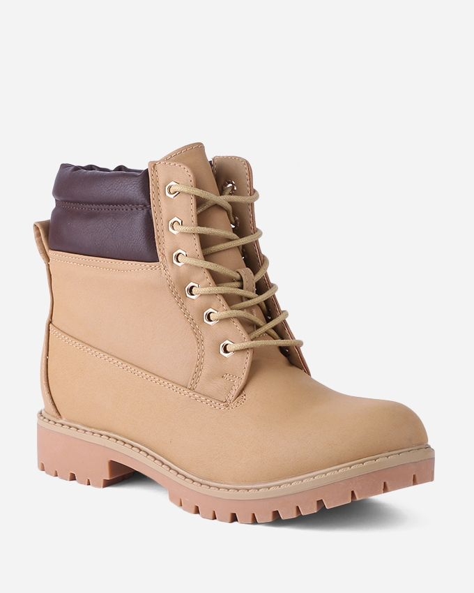 Joelle Classic Stoke Half Boots - Camel