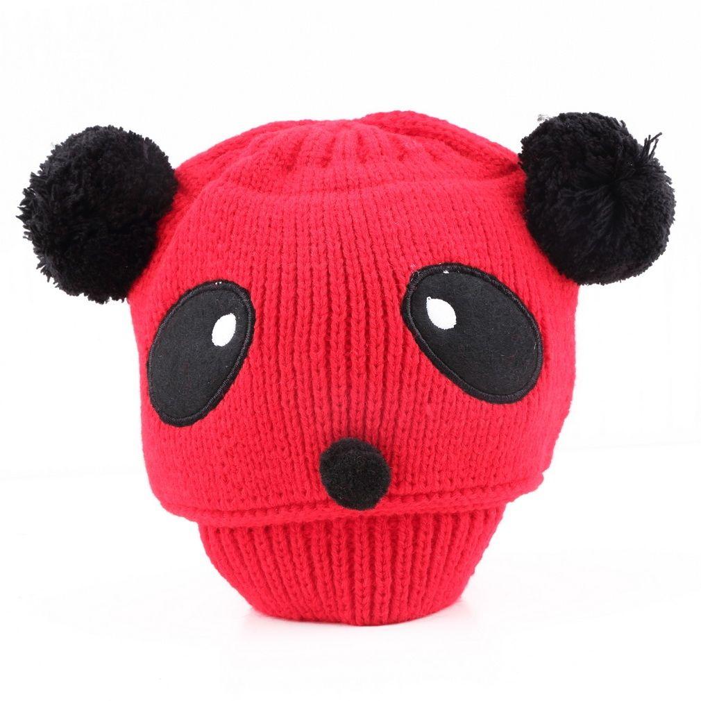 195c3663af1 Allwin Colorful Baby Girl Boy Kids Panda Hat Knit Winter Warm ...