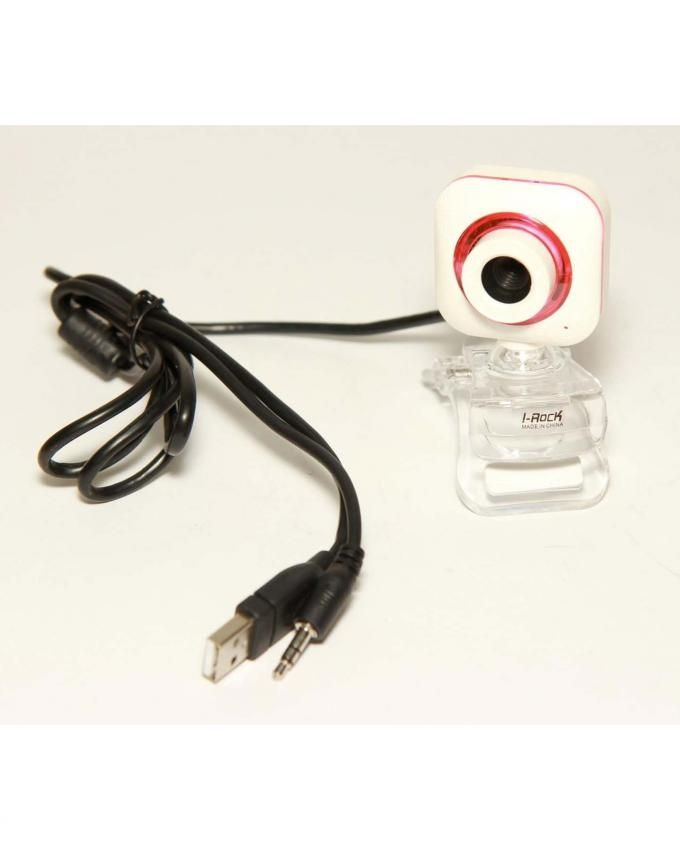 I-Rock USB Webcam with Mic - White