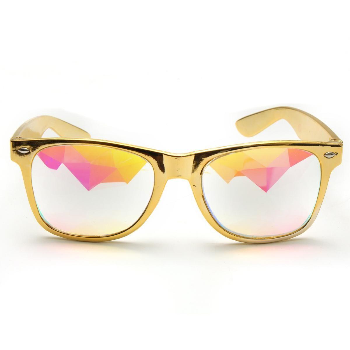 e4f95f88f5b Buy Generic Kaleidoscope Rave Glasses Diffracted Lens Rainbow Crystal  Glasses Sunglasses - Gold in Egypt
