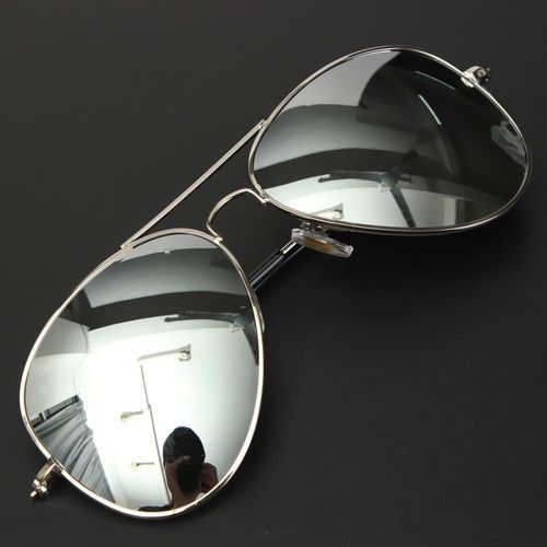 8f59eda1be6e Buy Fashion 8pcs Outdoor Men Women Fashion Glasses Metal Frame Sunglasses  Mirror Eyewear Silver Frame Mercury