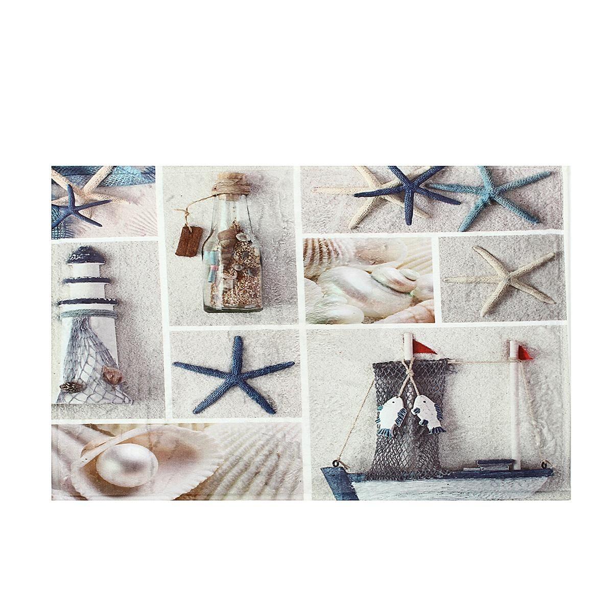 سعر Generic Summer Seashells Beach Shower Curtain Set Fabric