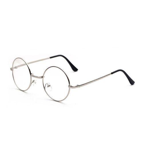 1288f650ca Buy Fashion Metal Round Decorative Mirror Harajuku Men And Women Models Plain  Glasses - Silver in