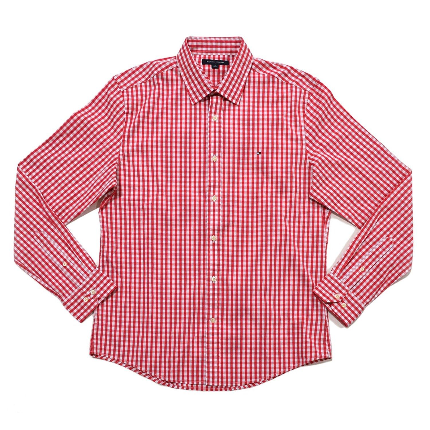 Tommy Hilfiger Men Gingham Stretch Button Up Shirt - Red Price in ... 445c172f2