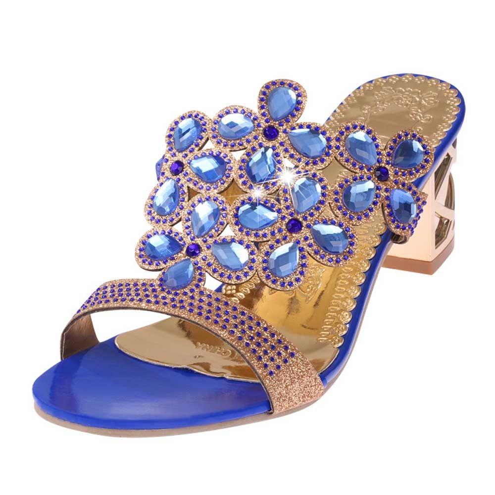 4a476fe64 Generic Tectores Fashion Trend Women Summer Fashion Flip Flops High Heel  Sandals Fat Girls Rhinestone Shoes