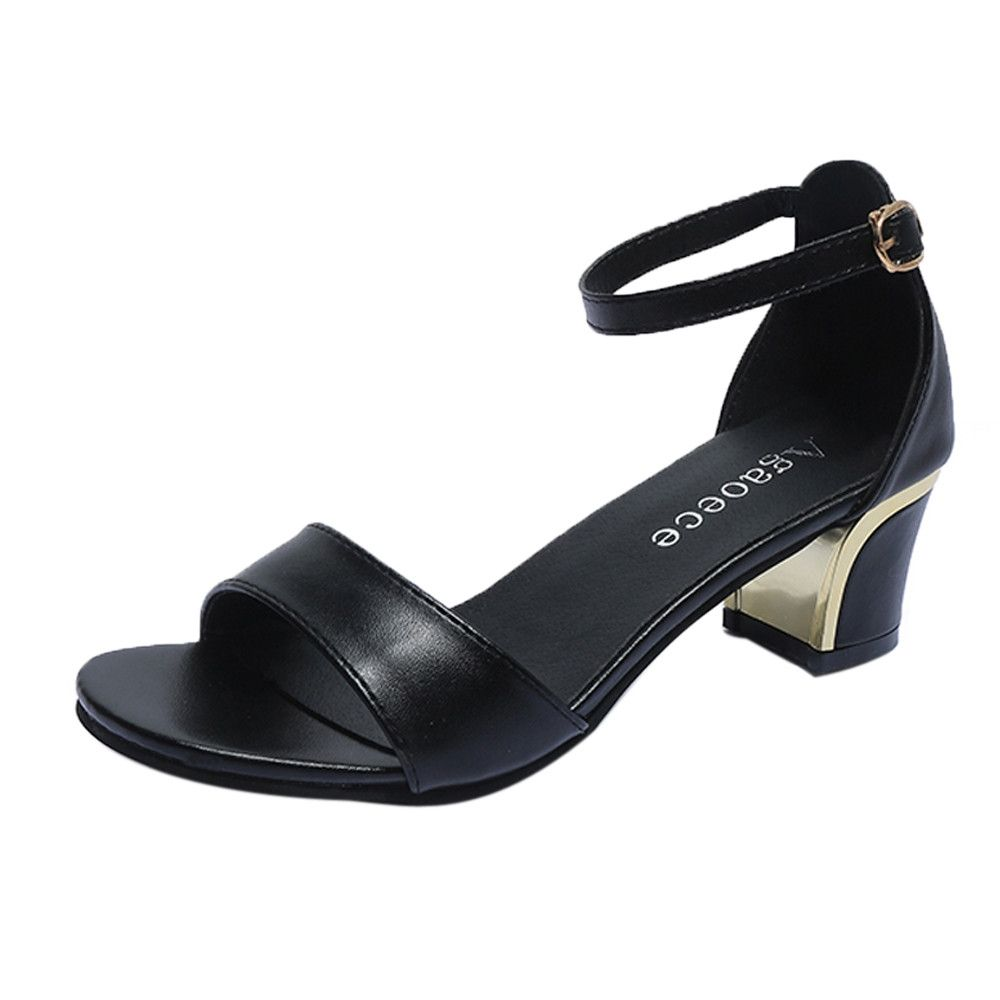 713d7fb79b9 Generic Tcetoctre Summer Women Shoes Pointed Toe Pumps Shoes High Heels  Boat Shoes Wedding Shoes -Black