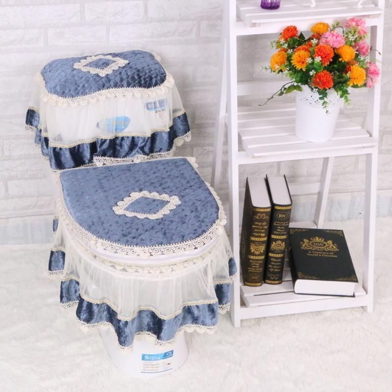 Amazing Generic High Grade Lace Three Piece Set Toilet Seat Cover U Machost Co Dining Chair Design Ideas Machostcouk