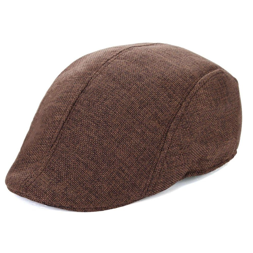 4605271396b Fashion Mens Womens Duckbill Ivy Golf Cap Driving Flat Cabbie Newsboy  Gatsby Beret Hat Coffee