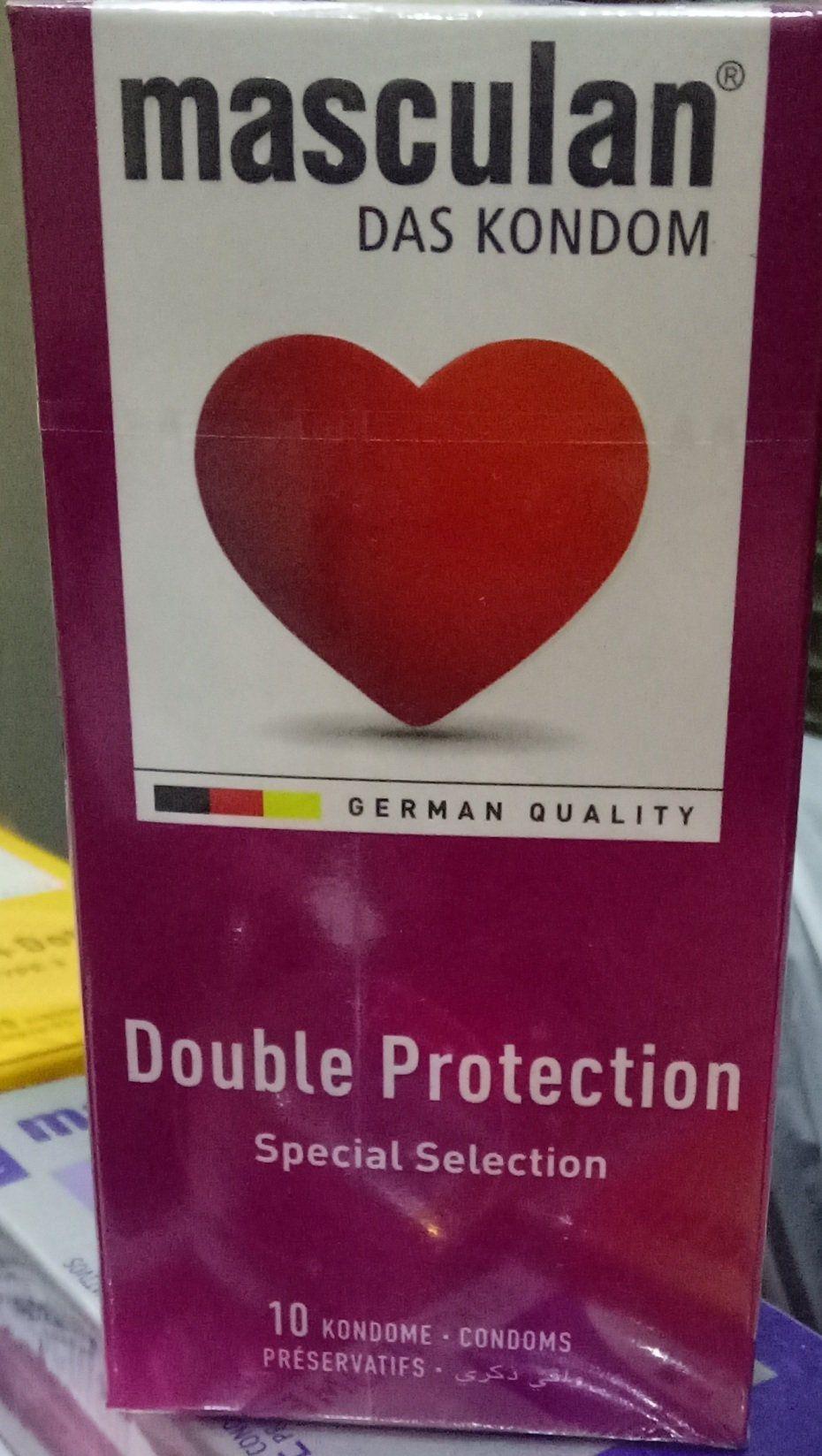 Masculan Double Protection Condoms 10 Pcs Health Care Kondom Durex Extra Safe