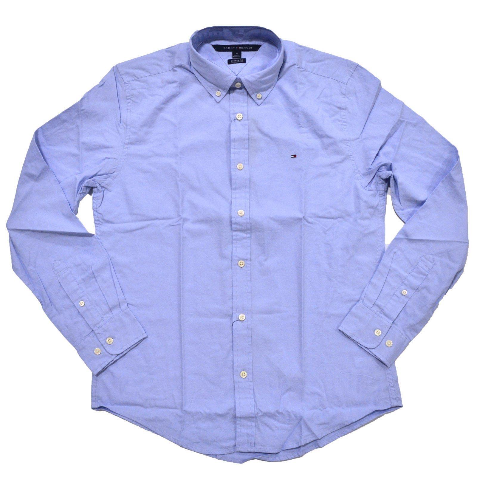 8611cdb0eb8 Tommy Hilfiger Men Custom Fit Long Sleeve Button-down Shirt - Light ...