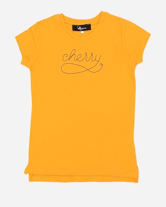 Andora ''Cherry'' Solid T-Shirt - Yellow