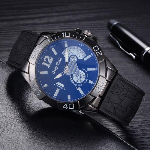 d3fbb70f0 Fashion Blicool Wrist Watch Men Business Watch Plastic Strap Sports Fashion  Watch Simulated Quartz Watch-Black