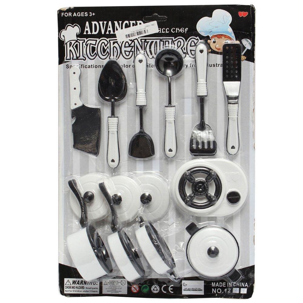Universal 11pcs Kids Pretend Role Play Toy Kitchen Utensils Pots Pan ...