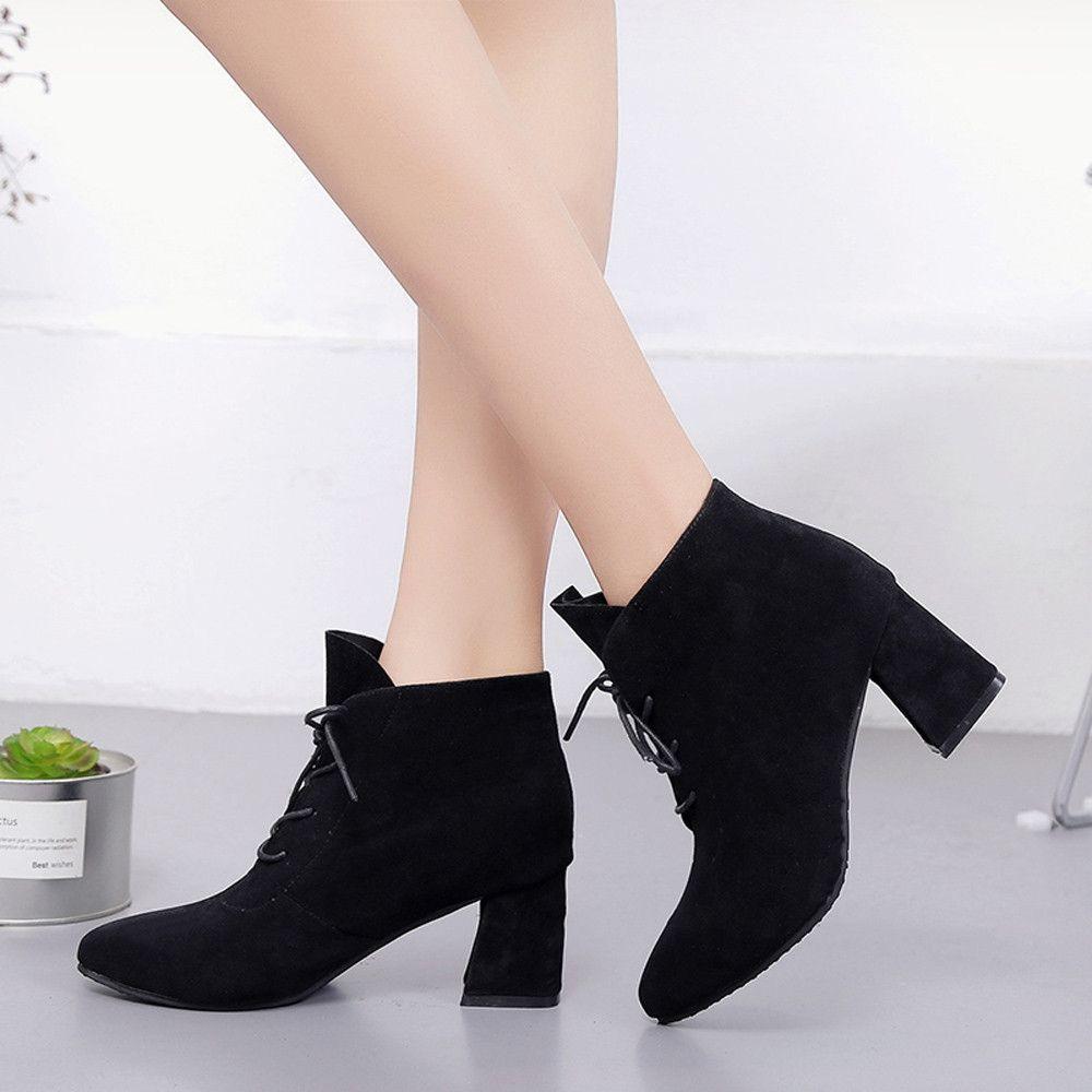 bcfbbcb81d Eissely Women Boots Square Heel Platforms Thigh High Pump Boots High Heel  Shoes BK 35-Black 35-39