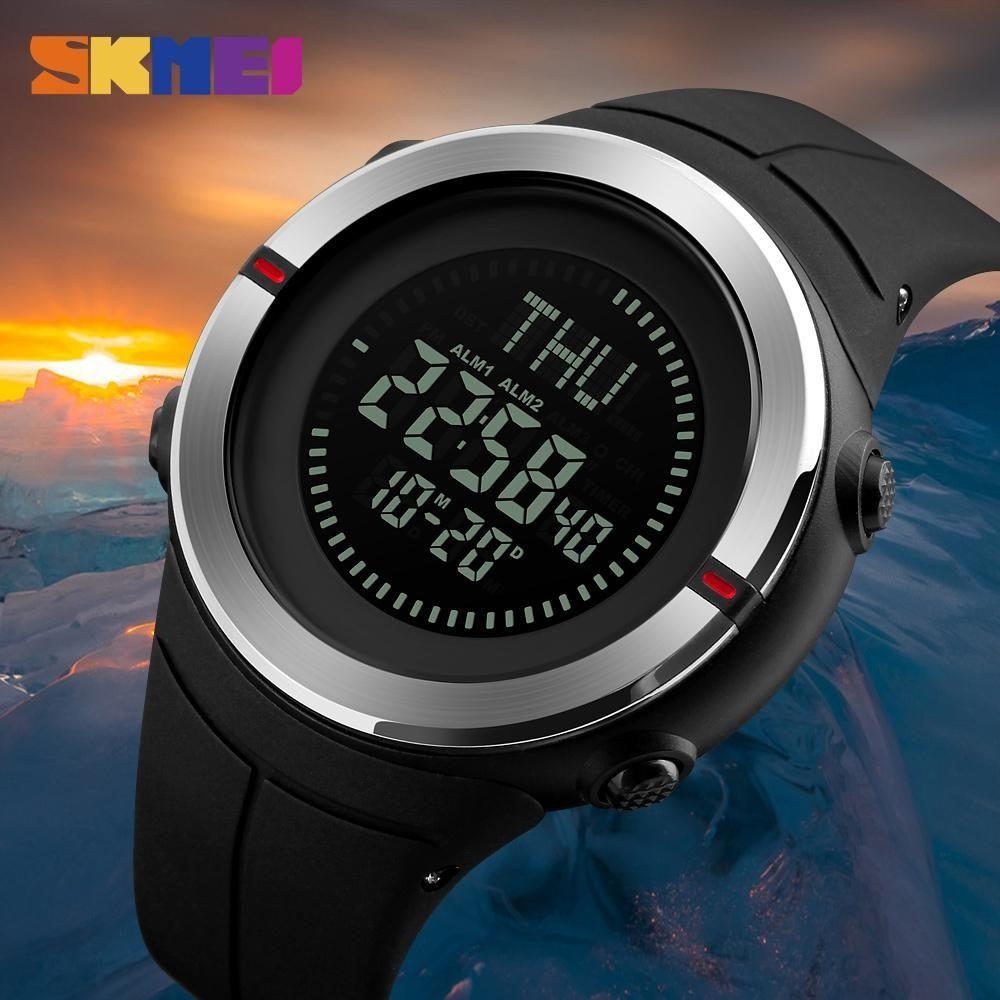 Skmei Compass Sports Watches Men Waterproof Wristwatches Hiking Men Watch Digital Led Electronic Watch Relogio Masculino 2018 Men's Watches