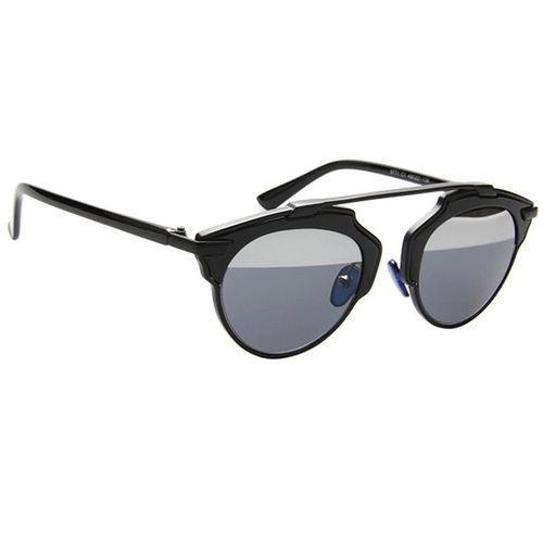 3ebe447e6c Bluelans Men Women Cat Eye Mirror Oversized Glasses Sunglasses Eyewear Black