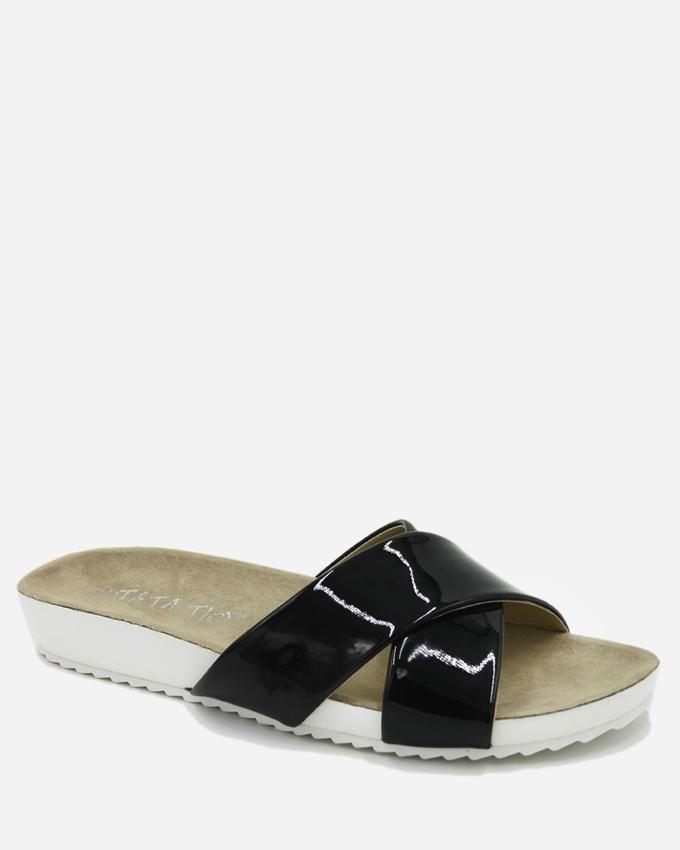 Tata Tio Cross Slippers - Black