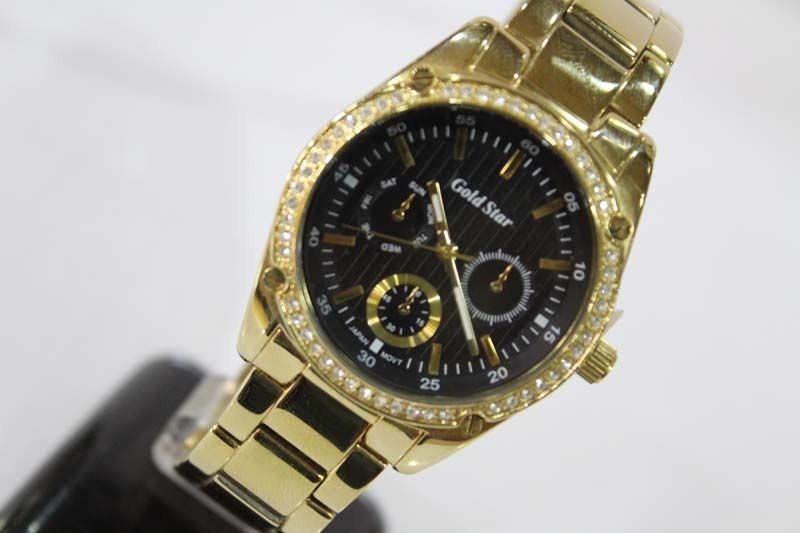 0e3e628f9 سعر Gold Star 018995B Stainless Steel Watch - For Men - Gold فى مصر ...