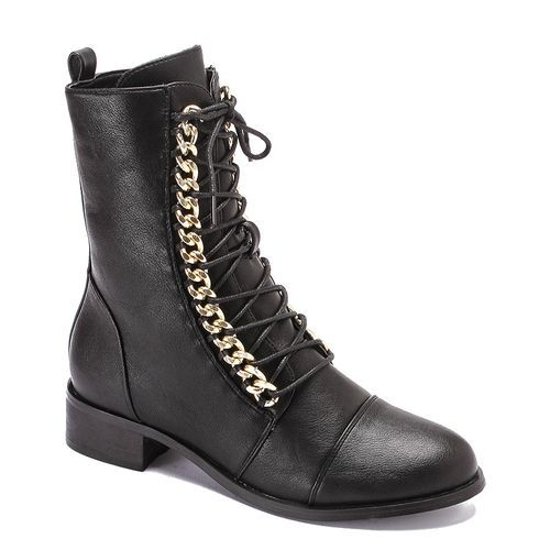 b18bda6914b1 Buy Dejavu Semi Pointed Leather Half Boot - Black in Egypt
