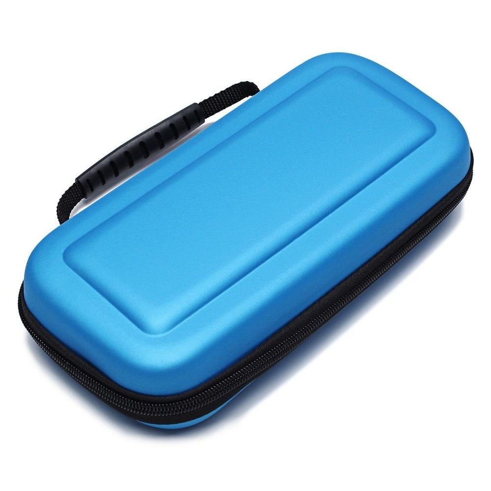 Universal For Nintendo Switch Travel Bag Carry Case Tempered Glass Carrying Screen Protector Official Film Blue