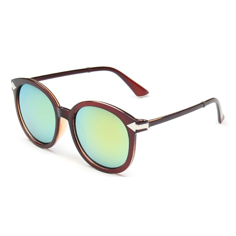 a245bcc37 Generic Leadsmart Viendo Round Frame Sunglasses With Mirrored Lenses Unisex  UV400 Protection Glasses