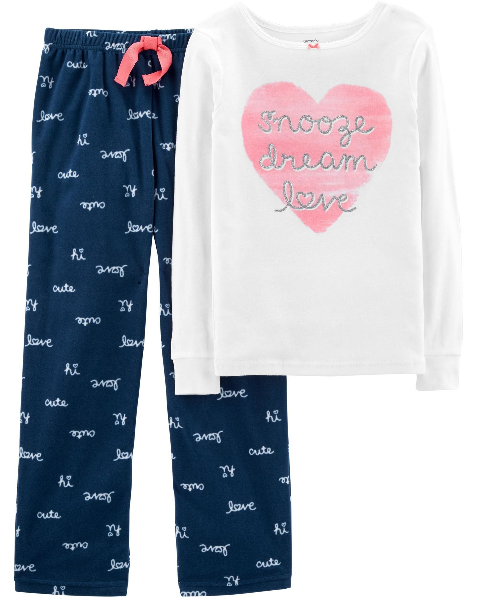 73a415d93 Carter's 2-Piece Love Cotton & Fleece PJs | Baby & Kids Fashion ...