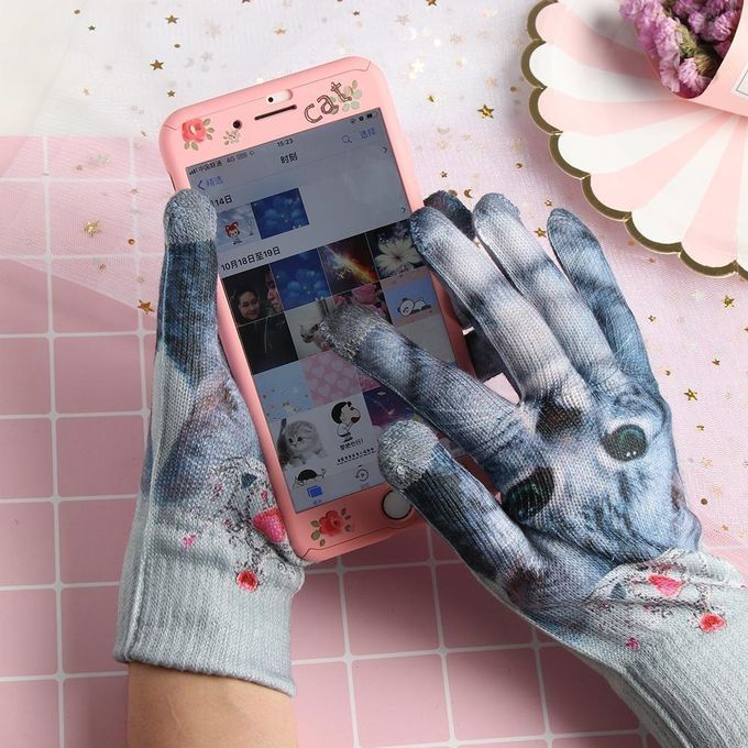 e94d47525dd63 سعر Home 3D Animal Print Gloves - Touch Screen - Multi Color فى مصر ...