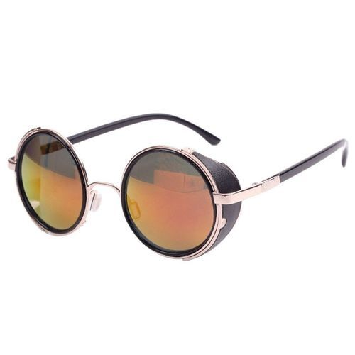 27b4518ba0d6 Generic Eclipse Glasses Mirror Lens Round Glasses Cyber Goggles ...