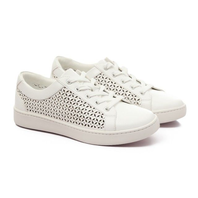 ce5222eda ALDO Strassed Perforated Casual Lace Up White Trendy Sneakers ...