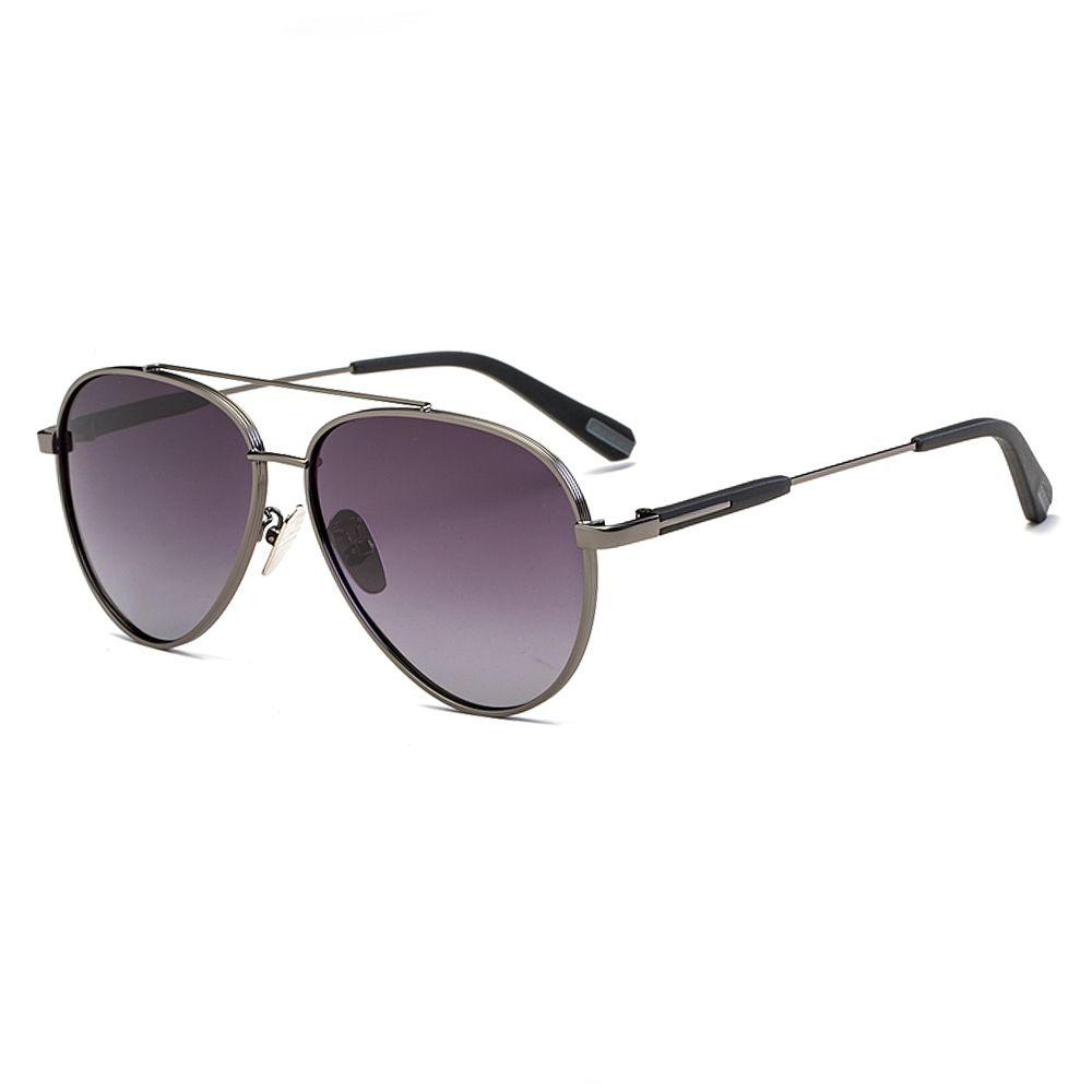 d82cc523b24 Fashion Chic Aviator Hd Polarized Sunglasses - Sliver Frame+Mercury Lens