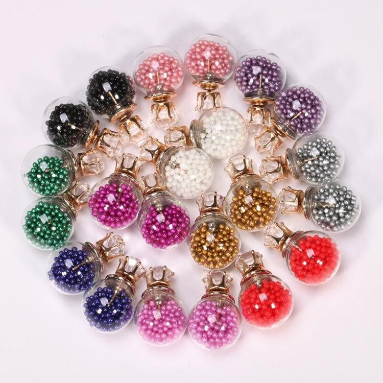 Fantastic Flower Cute Transparent Candy Color Sequin Double