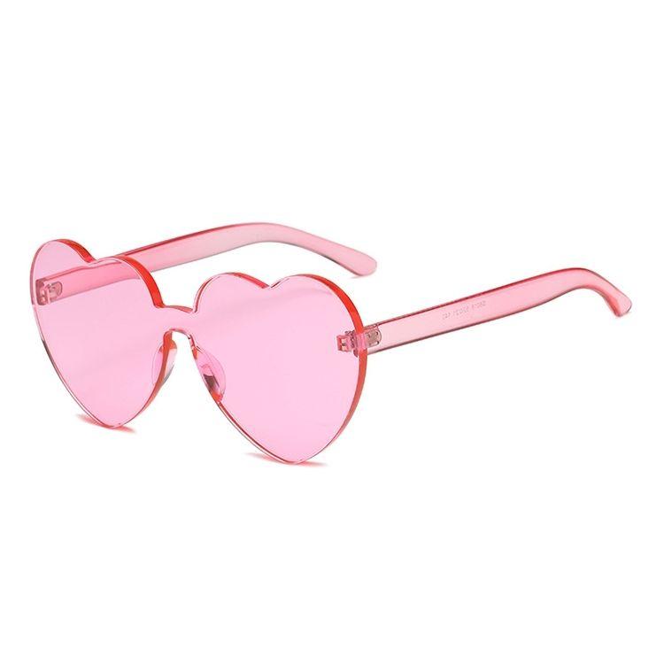 009bcaf0d9 Buy Generic Heart Shape Rimless UV400 Sunglasses For Women(Pink) in Egypt
