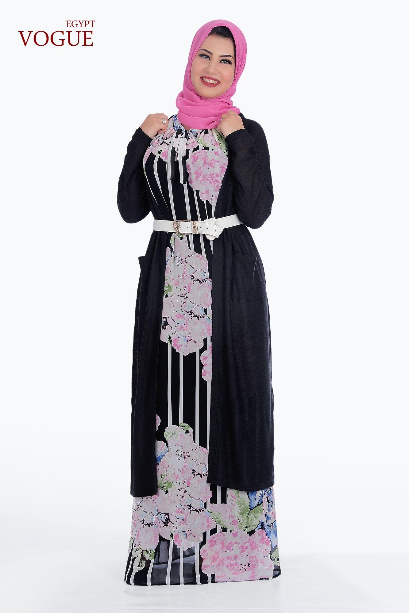 f273be485d684 سعر Vogue Egypt فستان طويل شيفون مبطن-بينك فى مصر