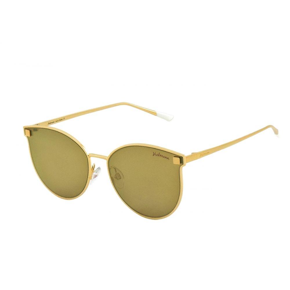 d8ebc37d80 AnaHickmann HICKMAN Sunglasses Model 3032 Gold Eye Cat Frame Brown Gold  Lensess