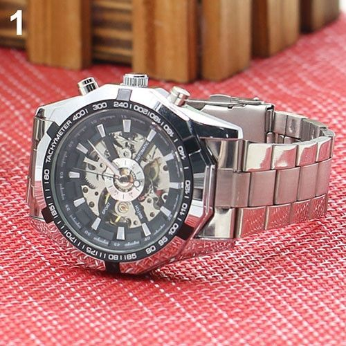 ffae4d88a سعر Bluelans Men Hand-Winding Skeleton Automatic Mechanical ...